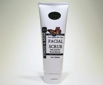 Fields of Ambrosia Jojoba Facial Scrub - 4 oz Plastic Tube