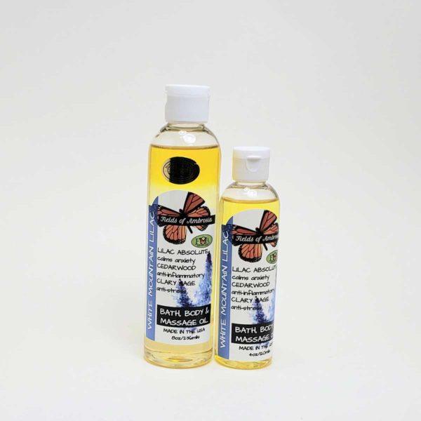 Bath, Body & Massage Oil - White Mountain Lilacs Scent