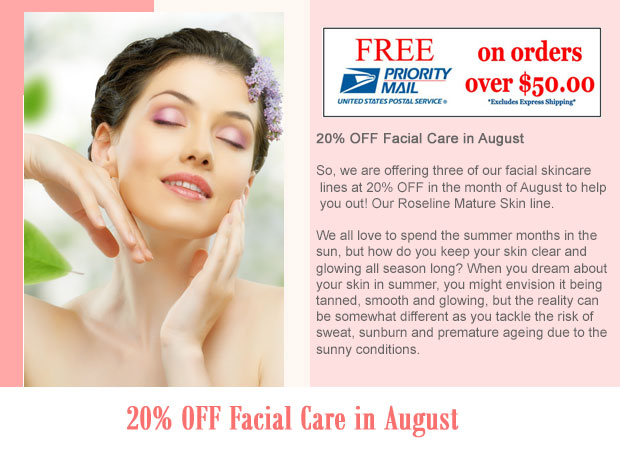 20% OFF Facial Care in August