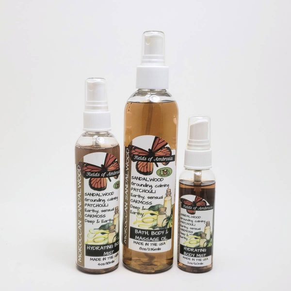 Hydrating Body Mist - Moroccan Sandalwood Scent